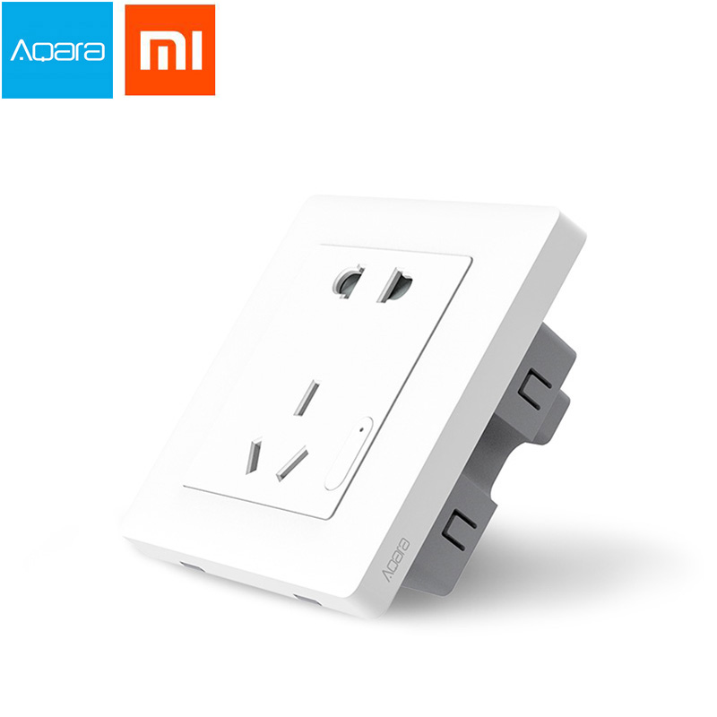 Original Xiaomi Smart home Aqara Smart Light Control ZiGBee Wall Switch Socket Plug Via Smartphone Xiaomi APP Wireless Remote цена и фото
