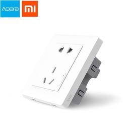 Oryginalny Xiaomi Smart home Aqara inteligentne sterowanie światłem gniazdko ścienne ZiGBee wtyczka za pośrednictwem smartfona Xiaomi APP bezprzewodowy pilot w Inteligentny pilot zdalnego sterowania od Elektronika użytkowa na