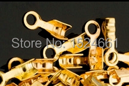 Jewelry Findings & Components Crimp & End Beads Wholesale jewelry accessories diy embossed velvet rope clip clip 8*1.5mm thread