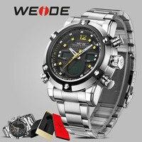 Relógio homens WEIDE Esporte orologio automático camping relógios de pulso eletrônico digital led relógio masculino quartz relógio de pulso suíça