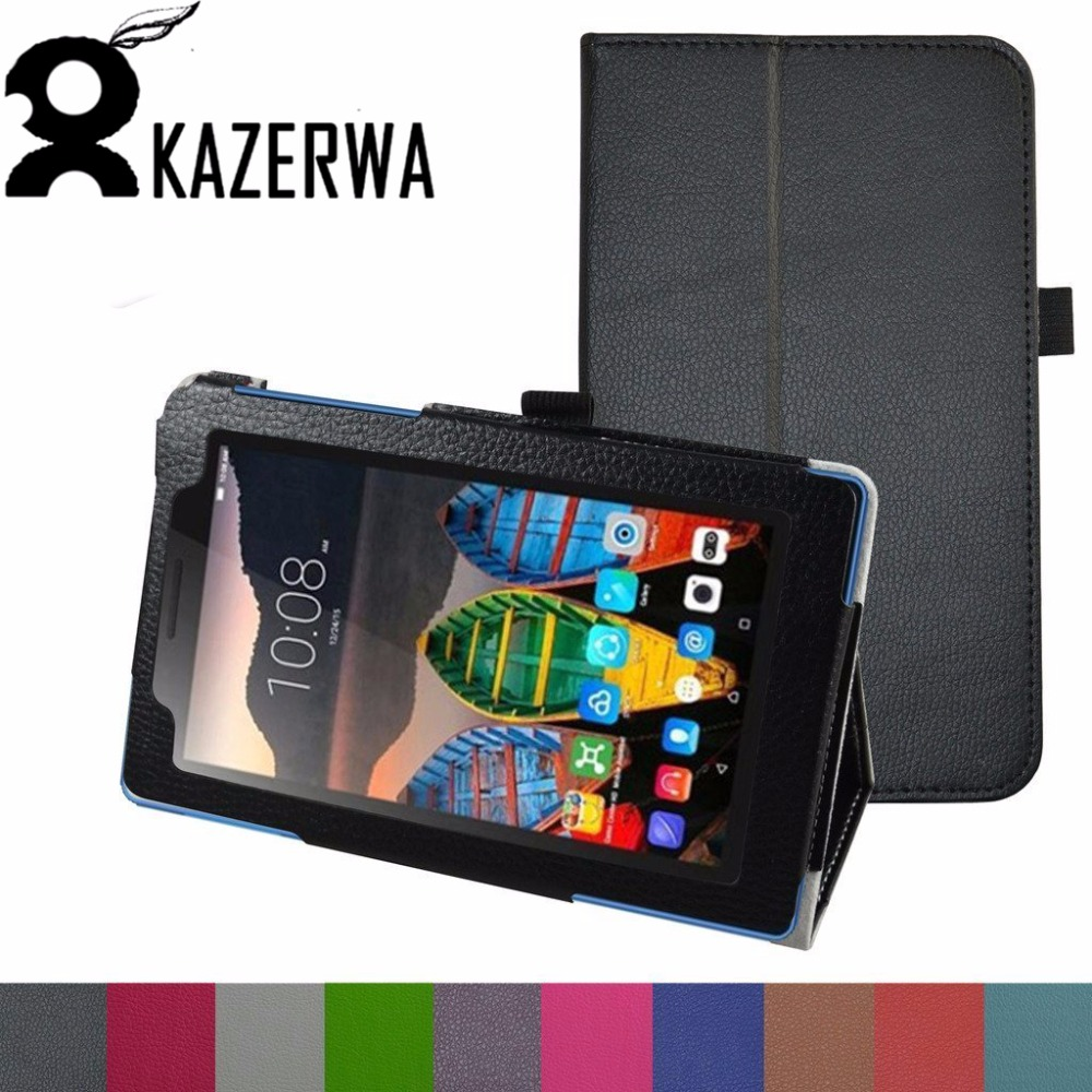 Case for Lenovo Tab 3 7 Essential 710F 710I, Smart Leather Case Stand Protective Cover for Lenovo Tab 3-710F 7 inch Funda + Pen printed pu leather case cover for lenovo tab 3 7 730f 730m 730x 7 inch tablet covers cases for tb3 730f not for tab 3 7 710f