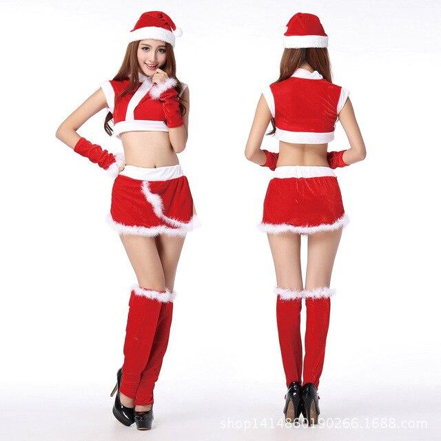 color women christmas xmas santa velvet sexy cosplay outfit party sm hot