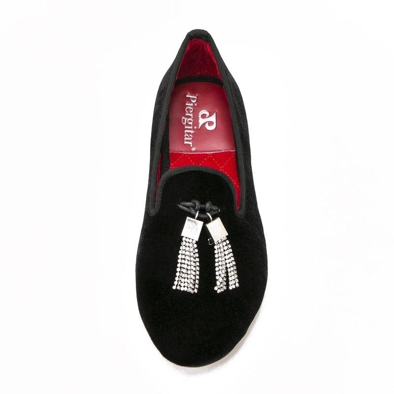 Diamantes Mujeres Zapatos Las Terciopelo Fiesta Gran Planos Imitación Mocasines Casuales Boda Mujer Con Y De Negro Primavera Tamaño Moda YndWxdr