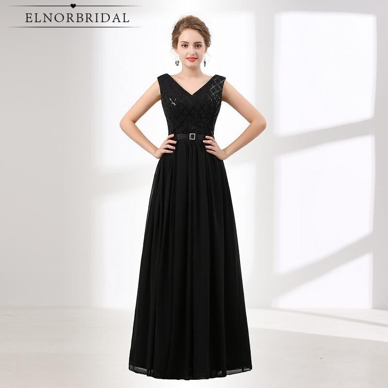 Discount Designer Evening Dresses: Ever Pretty Black Evening Dresses Long 2019 Robe De Soiree
