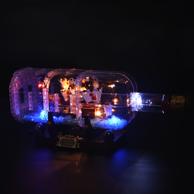 Led Light Set For <font><b>Lego</b></font> <font><b>21313</b></font> Ideas Serie Compatible 16051 creator ship in a Bottle Building Blocks Bricks(only LED light) image