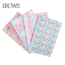 ФОТО 22cm*30cm glitter fabric colorful mermaid pu patchwork diy bag shoes accessories fabric handmade wallpaper phone case material