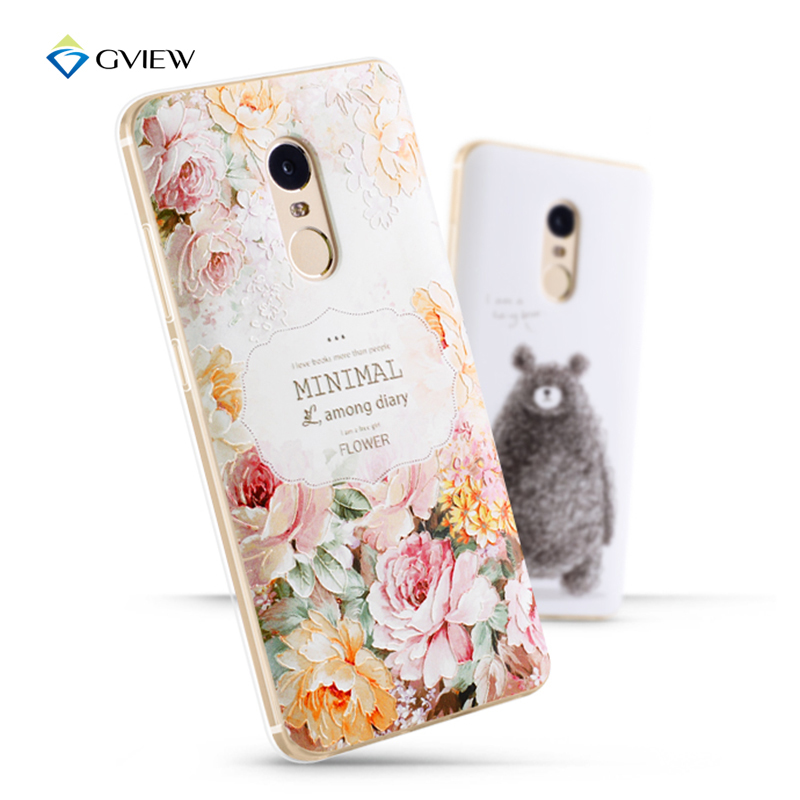 For Xiaomi Redmi note 4 Case 3D Pattern Sculpture TPU Cases Luxury Silicone Case For xiaomi