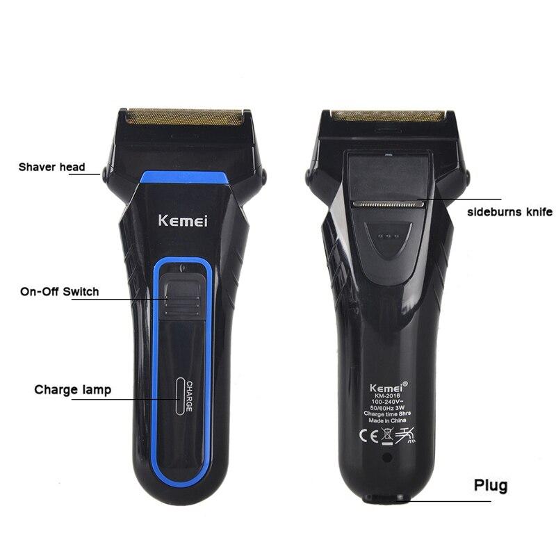 Электрическая бритва Kemei 2 лезвия, электробритва для мужчин, перезаряжаемая электрическая бритва, портативная электрическая бритва, резак д...