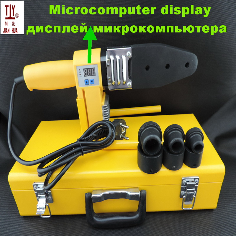 Free shipping high quality dn20-32mm plastic pipe welder, apparatus for welding of  ppr pipes with an electronic scoreboard welding helmet welder cap for welding equipment chrome for free post