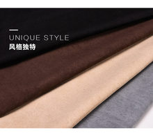 150CM*50CM Fake Suede Fabric Soft Polyester Faux Suede Cloth Black White coffee gray Khaki cheap Fabric Tissus Bazin Material(China)