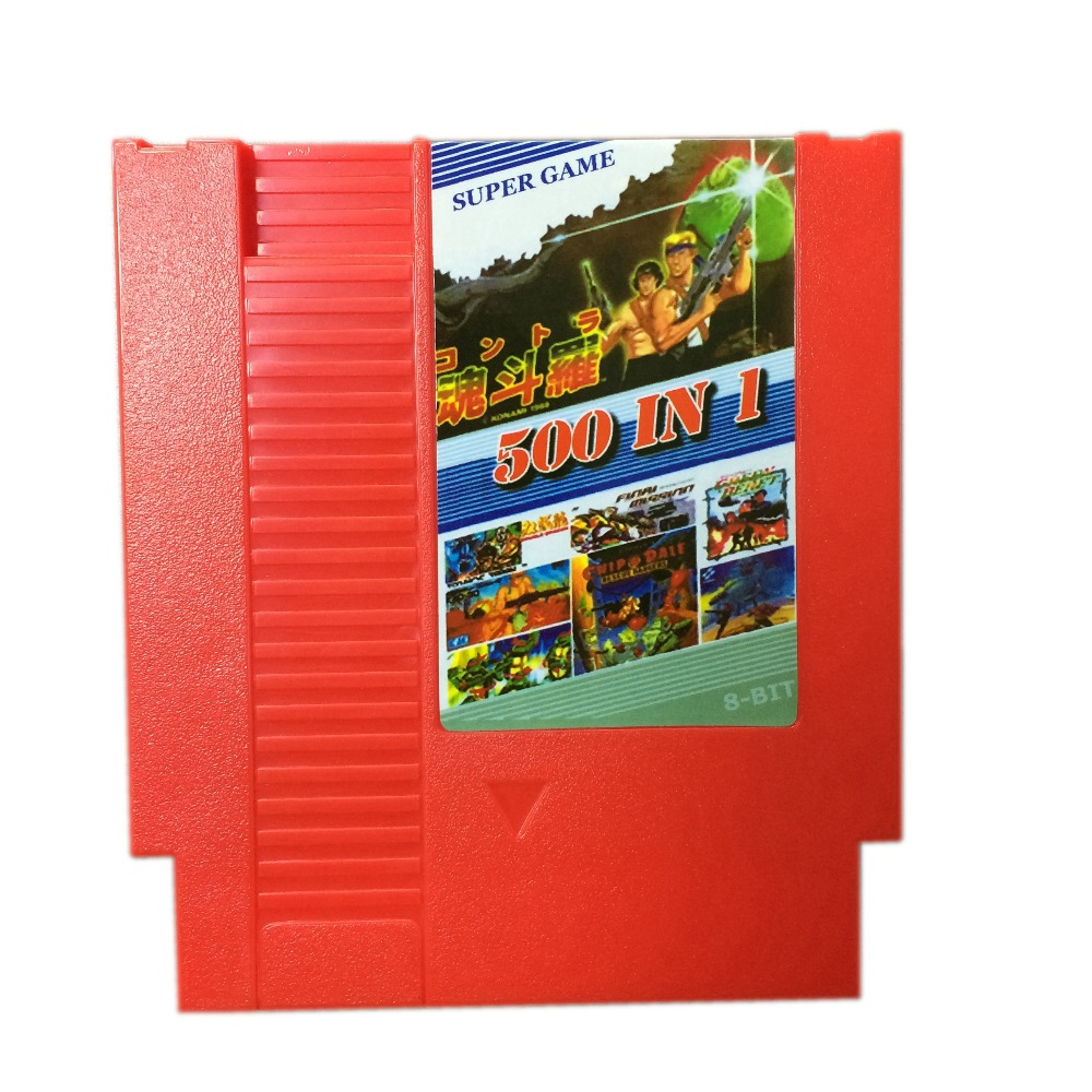 2017 New Arrival 500 in 1 Games collection 8 Bit 72 Pins Game Card