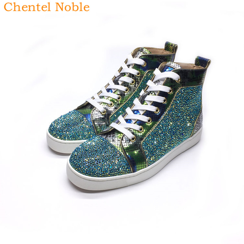 Detail Feedback Questions about 2018 Chentel Noble New Snake Leather  Crystal Leisure Shoes Walking Sneaker Outdoor Mixed Colors Shoes For Men  Lace Up on ... 74cb4ce8165e