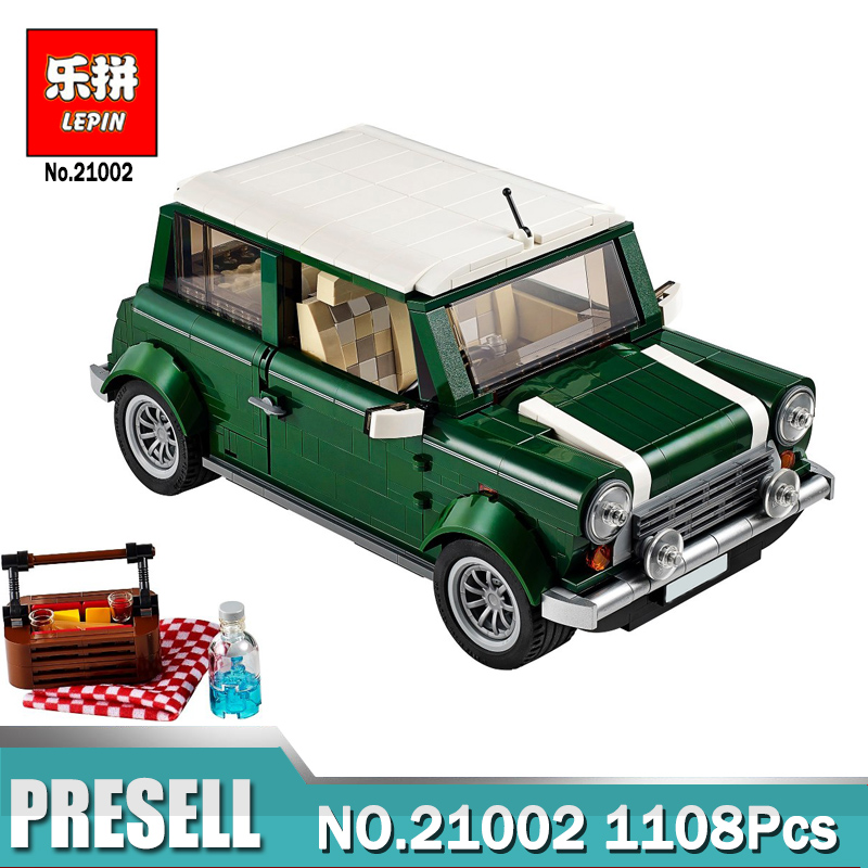 Technic Creator 21002 1108pcs LEPIN Cooper Model Building Kits Blocks Bricks Educational Toys Compatible With 10242 free shipping lepin 21002 technic series mini cooper model building kits blocks bricks toys compatible with10242
