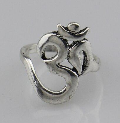 2016 New Hindoo Jewelry,OHM Hindu Buddhist AUM OM Ring Hinduism Yoga India Outdoor Sport Women/Men Ring Religious Symbol Jewelry