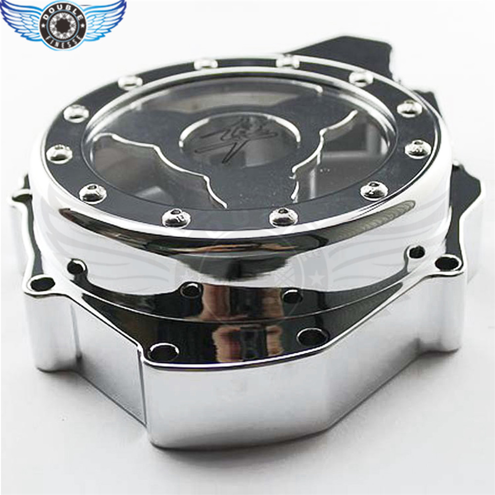 motorcycle engine covers Chrome Stator Engine Covers For SUZUKI GSXR1300 HAYABUSA 1999 2000 2001 2002 2003 2004 2005 2006 2007 fit for suzuki hayabusa gsx1300r 19971998 1999 2000 2001 2002 2003 2004 2005 2006 2007 abs plastic motorcycle gsx1300r 97 07 c25
