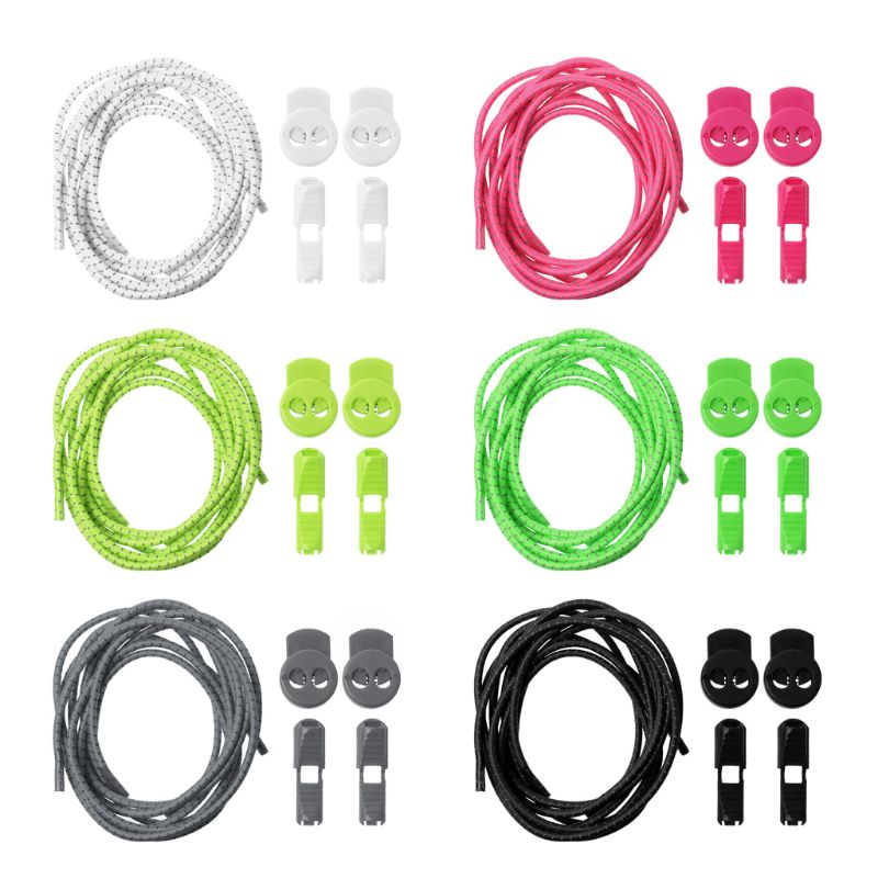 Shoe Strings No Tie Lazy Laces Elastic Round Buckle Sport Shoes Sneaker Shoelaces Reflective Without Lacing Running  Lock LaceShoe Strings No Tie Lazy Laces Elastic Round Buckle Sport Shoes Sneaker Shoelaces Reflective Without Lacing Running  Lock Lace