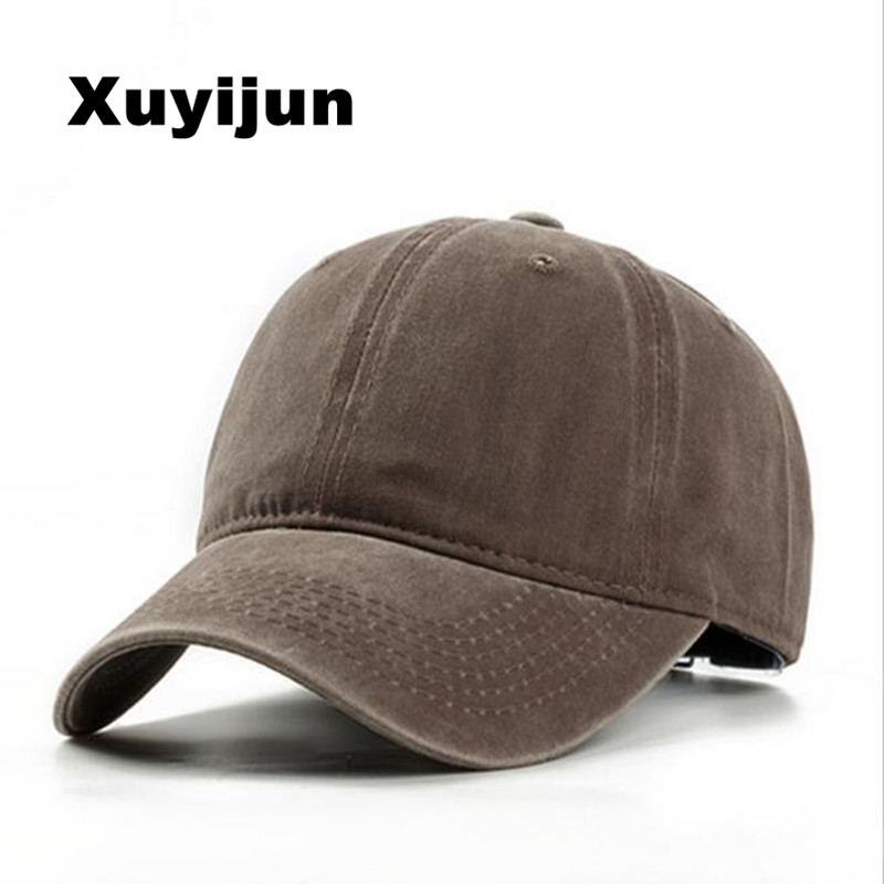 Xuyijun Arrivals Washed cotton Solid color Baseball Cap Vintage Casual Hat Snapback Adjuatable Baseball Caps Brand New For Adult printio холст 30x40