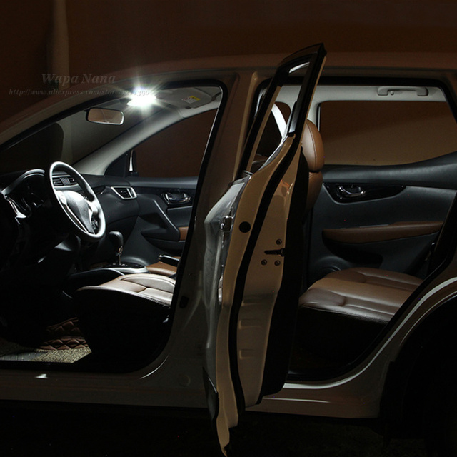 int rieur de la voiture led lampe de lecture d coration accessoires pour nissan qashqai dans. Black Bedroom Furniture Sets. Home Design Ideas
