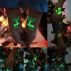Распродажа Хэллоуин светящаяся татуировка для детей поддельные татуировки светящиеся в темноте Водонепроницаемый временные татуировки