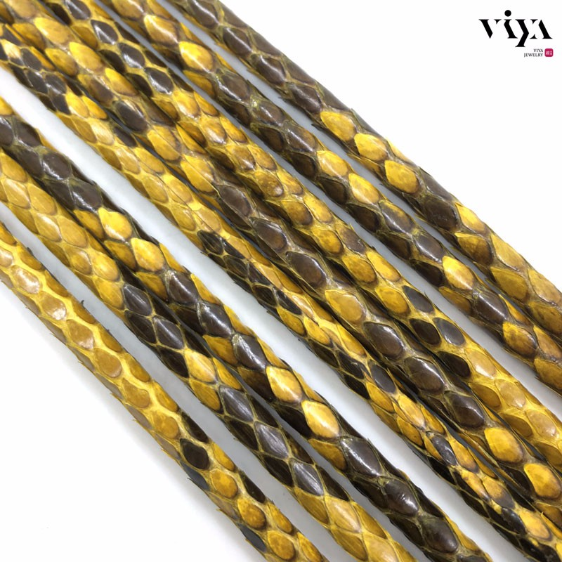 Glossy-yellow-Python-Skin-Leather-Cord-Available-Diameter-4-mm-5-mm-6-mm-(8)