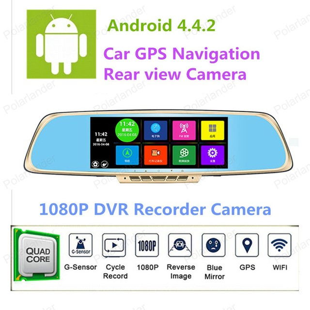 "Hotsell 7"" Support 32GB 1080P Full HD Car DVR RearviewMirror Dual Lens Camera DVRVideo Recorder"