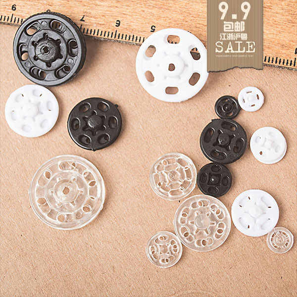 Quality plastic resin press stud snaps invisible sewing accessories 15mm