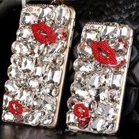 XINGDUO S3 de luxe Bling Diamant Gem Fleur En Cristal Dur Case Couverture pour iphone 7 7 Plus 6 Plus 6 S Plus 5 5S 6 6 S 5C 4S