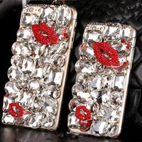S3 Luxury Bling Diamond Gem Flower Crystal Hard Case Cover For Iphone 7 7Plus 6Plus 6S
