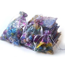 Коробки для конфет из органзы, сумки для гостей, мешочек для ювелирных изделий, свадебные сувениры, подарки на день рождения, вечерние принадлежности, ремесло, сделай сам, Детские душевые разноцветные Wh