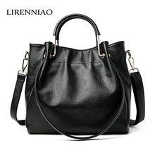 LIRENNIAO Mode Ledertaschen Frauen Handtaschen Luxus Brand echtledertasche damen Frauen Messenger Bags Schulter