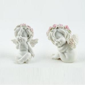 Силиконовая форма милый ангел с цветком форма венка помадка торт плесень ручной работы Мыло Свеча Плесень ручной работы глина форма