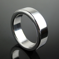 6mm thick stainlee steel penis ring metal cock ring male time delay  ring ball s