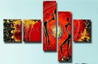 Free Shipping Hand Painted Modern Cute Girls Oil Painting On Canvas Home Decorative Picture Abstract Paint Wall Art 3pcs Canvas