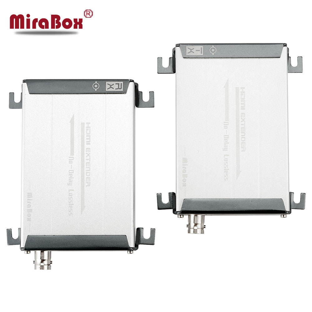 MiraBox hdmi over coax with TNC top support 1080p A/V lossless and no time delay hdmi extender coaxial transmitter and receiver 80 channels hdmi to dvb t modulator hdmi extender over coaxial