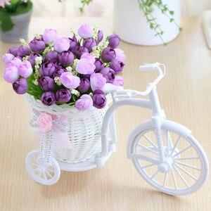 Image 2 - מתנת חג אהבת ראטאן אגרטל + פרחי מטרים אביב נוף עלה מלאכותי פרח סט בית חתונת קישוט יום הולדת מתנה