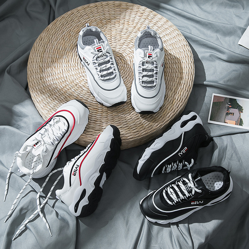 Casual Marque 2018 Noir gris Chaussures Femmes Doux Blanc rouge Respirant Sneakers Mode En Cuir Vintage Plates Femme Formateurs Mocassins 7m6vYfIbgy