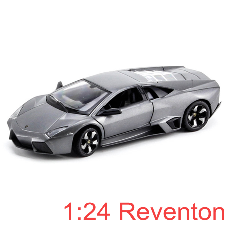 Super Cars Reventon Alloy Car Static Model 1/24 Hard Top Sports Car Collection Model Color Box Package Toy Gift моtогmах моtоrmах lamborghini reventon 1 24 серая