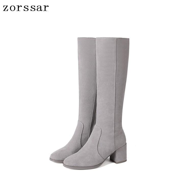 22208ee4 Mujeres Tacón Zapatos {zorssar} Mujer Calidad Alta La Botas De gris ...