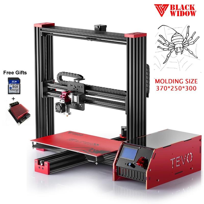 2017 Newest Impressora 3D TEVO Black Widow Printing Area 370 250 300mm reprap prusa I3 3D