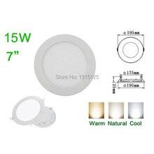 High quality high lumens LED Panel Light,15W Round LED Ceiling Light ,Aluminum 2835SMD warm white/cold white/white+Free Shipping