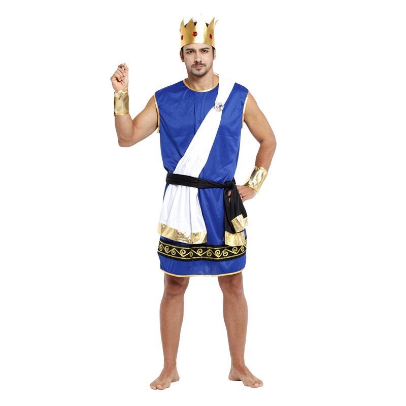 aliexpresscom buy fantasia ancient greek mythology the king of gods zeus cosplay men halloween king costumes carnival christmas masquerade dress from - Poseidon Halloween Costume