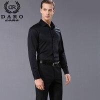 Индивидуальный дизайн для мужчин's рубашки для мальчиков Мода 2019 г. мужчин с длинным рукавом черный и белый Бизнес Рубашка DARO855