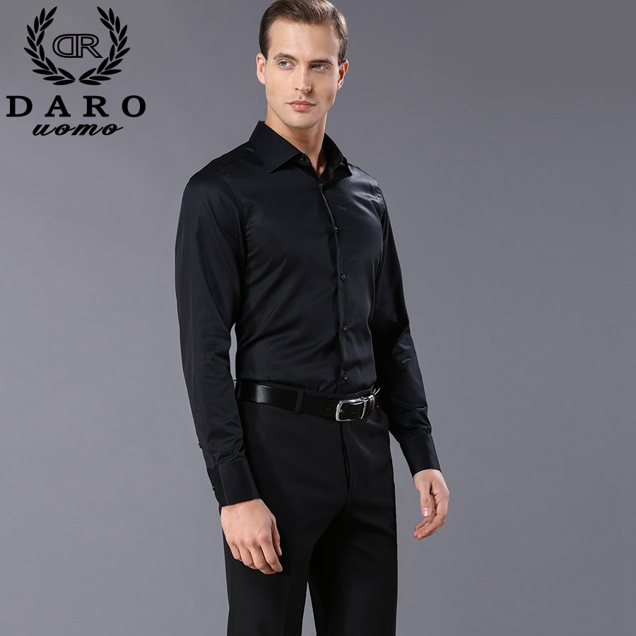 Custom Designer Mens Dress Shirts 2018 Fashion Mens Long Sleeve