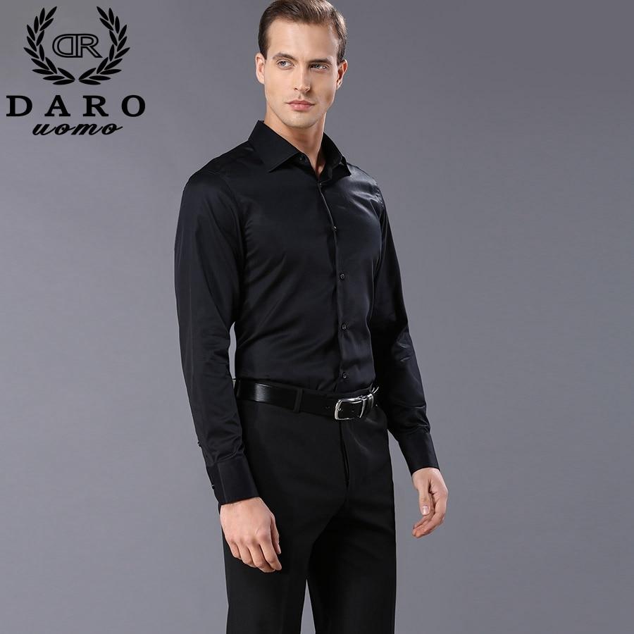 Shirt design for man 2017 - Custom Designer Men S Dress Shirts 2017 Fashion Men S Long Sleeve Black And White Business Shirt Dr855