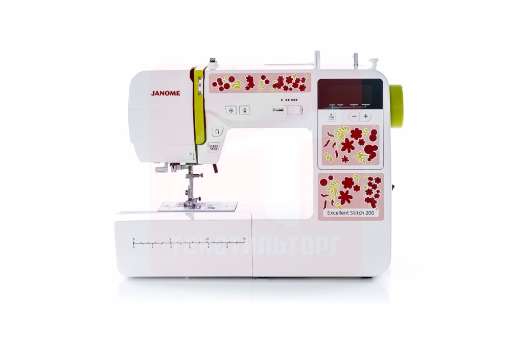 Sewing Machine Janome Excellent Stitch 200 (ES 200) 32pcs multifunctional sewing machine presser foot feet kit for stitch