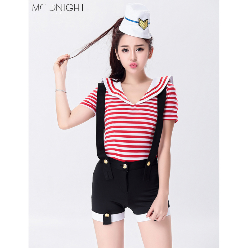 MOONIGHT Sexy Female Singer Costume Rompers Bar DJ DS Clothes Stripe Stage Costume Women Dancers Stage Show Costume