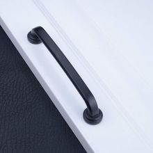 128mm kitchen cabinet handle modern simple cupboard pull 5″ black drawer wardrobe dresser furniture door handles pulls knobs