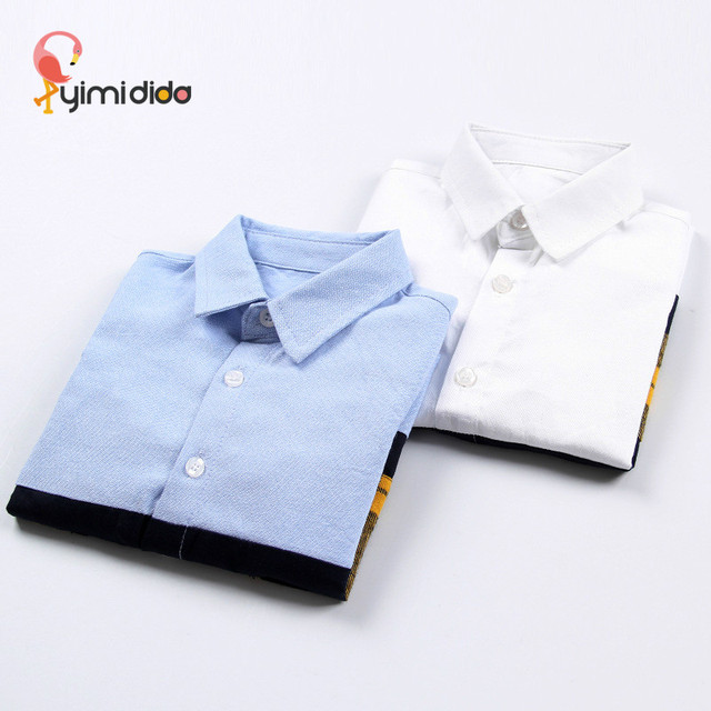 2018 Brand Fashion Boys Blouses Quality Cotton Baby Boy Shirts Casual College Style Tops Autumn Kids Clothes Party Birthday Gift