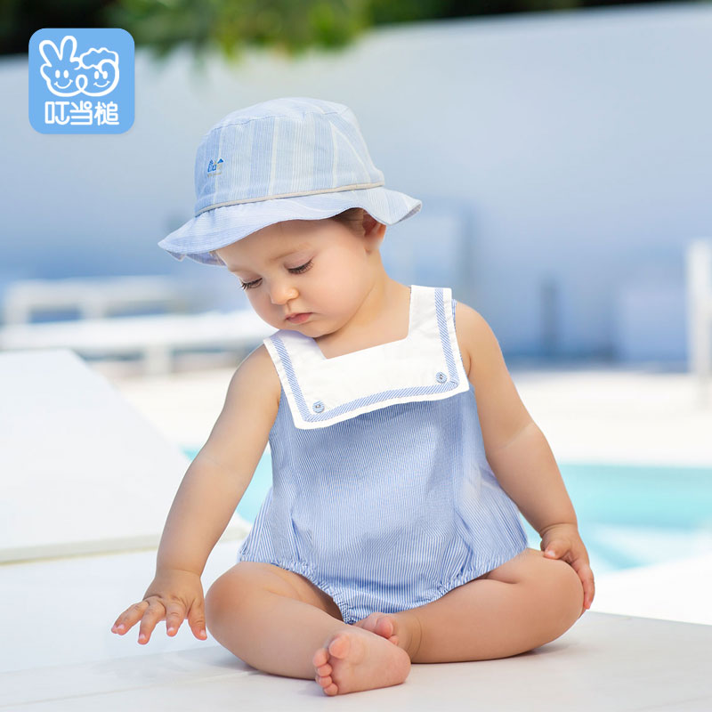 Summer  Newborn Baby Girl Stripes Romper Jumpsuit Toddler Baby Girl Sleeveless Romper Jumpsuit Clothes 0-12M