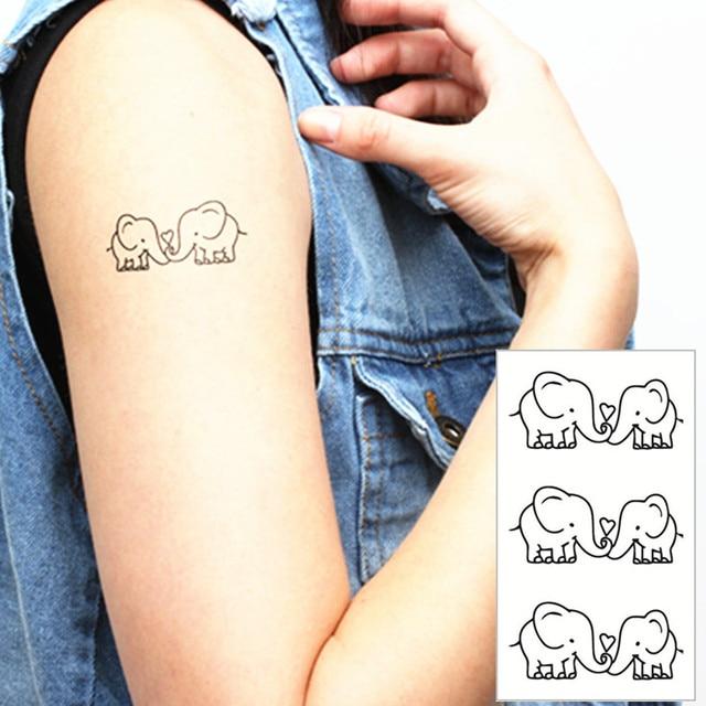 Shnapign White Elephant Flash Tattoo Hand Sticker 10 5 6cm Small